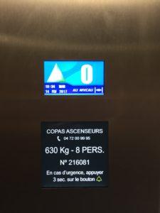 Copas ascenseurs Modernisation afficheur