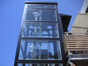 Copas ascenseurs pylone vitré Tertiaire