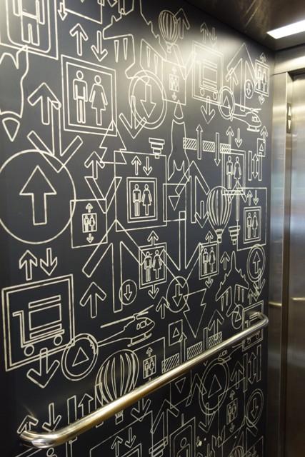 copas ascenseurs - cabine - main courante